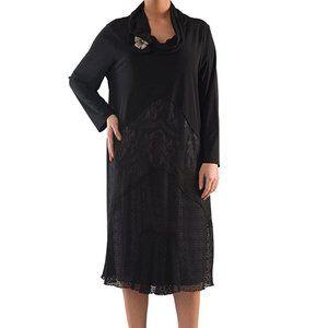 Plus Size Elegant Dress with Lace - La Mouette